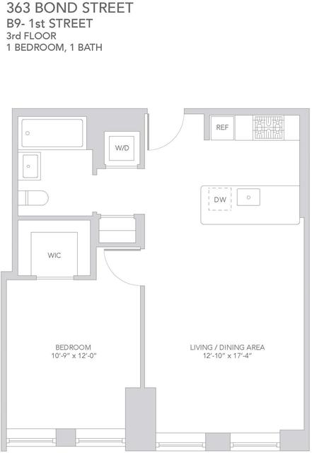 1 Bedroom, Gowanus Rental in NYC for $3,595 - Photo 2
