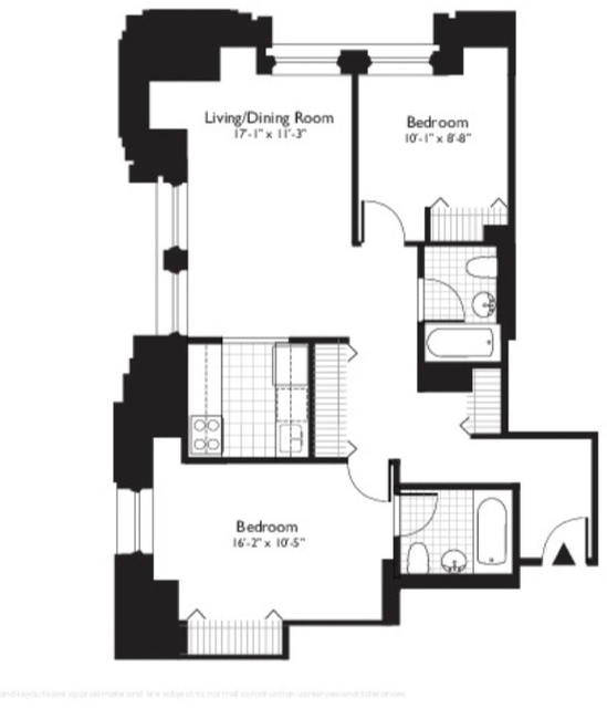 2 Bedrooms, Financial District Rental in NYC for $5,130 - Photo 1
