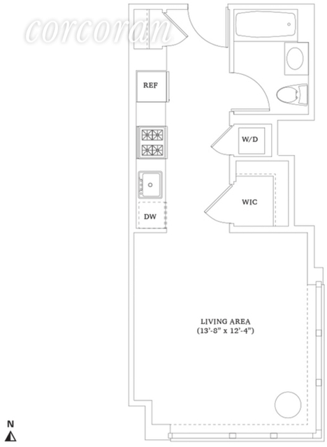 Studio, Hell's Kitchen Rental in NYC for $3,015 - Photo 2