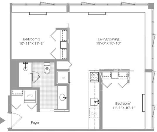 2 Bedrooms, Stapleton Rental in NYC for $2,537 - Photo 2