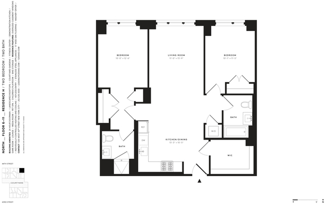 2 Bedrooms, Hell's Kitchen Rental in NYC for $5,485 - Photo 2