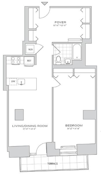 1 Bedroom, Financial District Rental in NYC for $5,110 - Photo 2