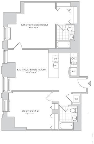 2 Bedrooms, Financial District Rental in NYC for $6,384 - Photo 2