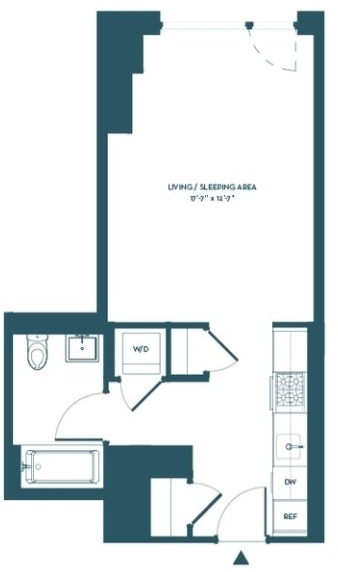 Studio, Hell's Kitchen Rental in NYC for $2,730 - Photo 2