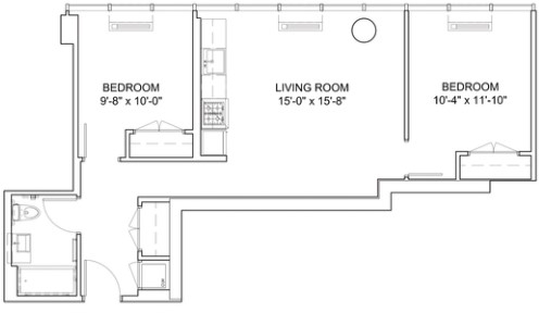 2 Bedrooms, Hell's Kitchen Rental in NYC for $4,379 - Photo 2