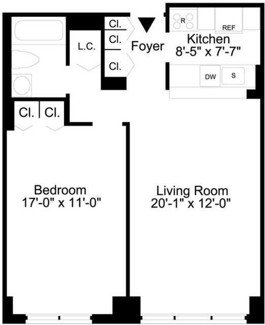 1 Bedroom, Lincoln Square Rental in NYC for $4,120 - Photo 2