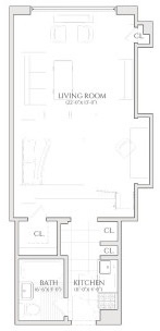 Studio, Turtle Bay Rental in NYC for $2,515 - Photo 2