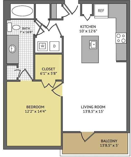 1 Bedroom, Greater Heights Rental in Houston for $1,213 - Photo 1