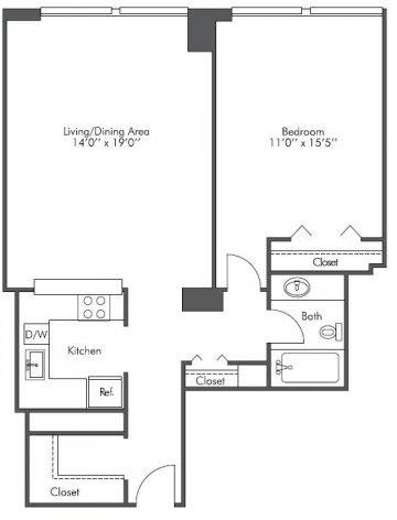1 Bedroom, West Loop Rental in Chicago, IL for $1,925 - Photo 2