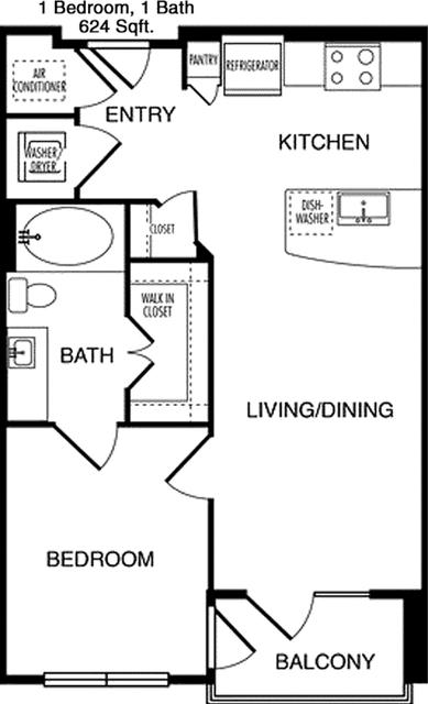 1 Bedroom, Renesu Court Rental in Houston for $1,445 - Photo 2