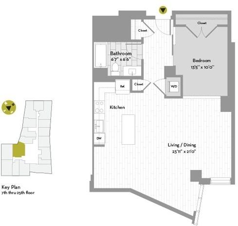 Studio, Chinatown - Leather District Rental in Boston, MA for $3,929 - Photo 2