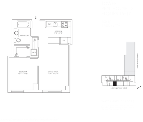 1 Bedroom, Seaport District Rental in Boston, MA for $3,503 - Photo 2