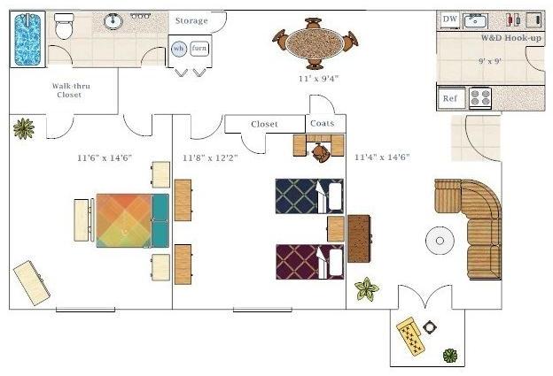 2 Bedrooms, College Park Rental in Atlanta, GA for $885 - Photo 2