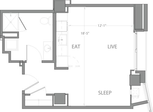 Studio, Seaport District Rental in Boston, MA for $2,265 - Photo 1