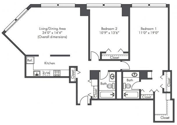 2 Bedrooms, West Loop Rental in Chicago, IL for $2,465 - Photo 2