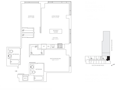 2 Bedrooms, Seaport District Rental in Boston, MA for $5,855 - Photo 2