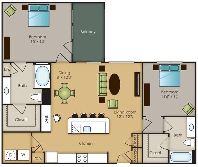 2 Bedrooms, North Central Dallas Rental in Dallas for $1,407 - Photo 1