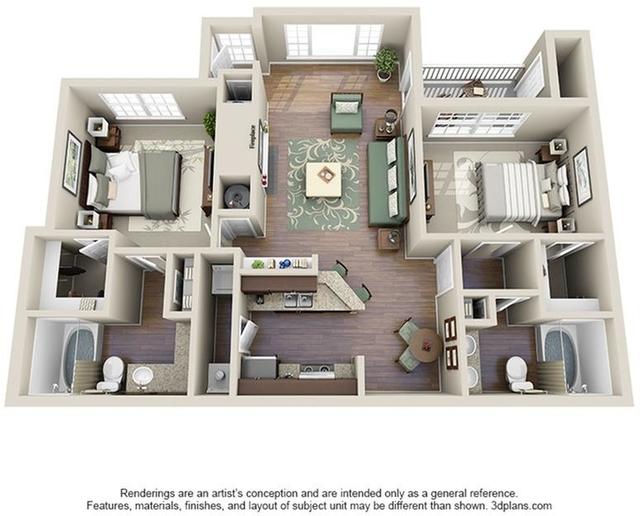 2 Bedrooms, Dunwoody Town Homes Rental in Atlanta, GA for $1,306 - Photo 1