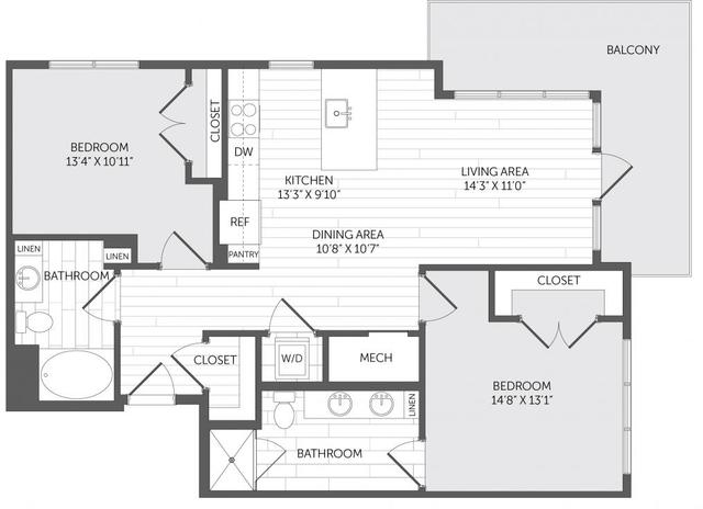 1 Bedroom, Marina Bay Rental in Boston, MA for $2,511 - Photo 2