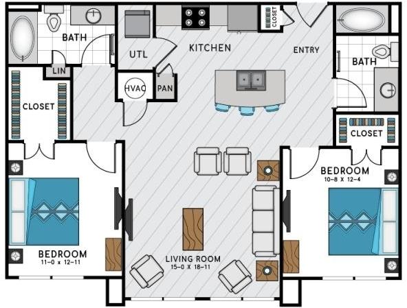 2 Bedrooms, Sandy Springs Rental in Atlanta, GA for $1,941 - Photo 2
