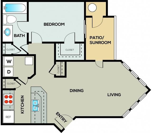 1 Bedroom, Gwinnett County Rental in Atlanta, GA for $885 - Photo 1