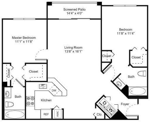 2 Bedrooms, Nova Rental in Miami, FL for $1,513 - Photo 1