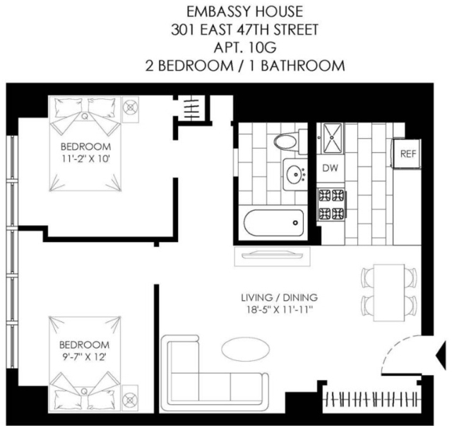 2 Bedrooms, Turtle Bay Rental in NYC for $4,350 - Photo 2
