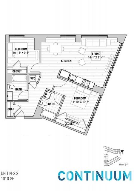 2 Bedrooms, North Allston Rental in Boston, MA for $3,975 - Photo 1
