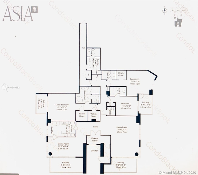 4 Bedrooms, Brickell Key Rental in Miami, FL for $10,000 - Photo 2