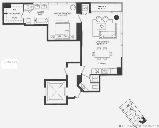 1 Bedroom, Broadmoor Rental in Miami, FL for $2,800 - Photo 1