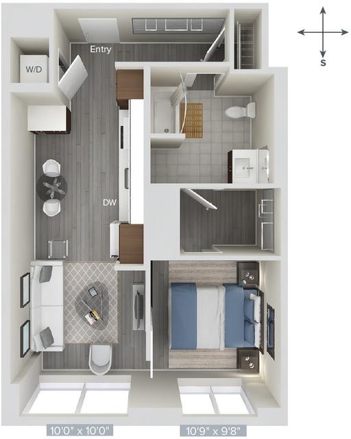1 Bedroom, Downtown Boston Rental in Boston, MA for $2,638 - Photo 1