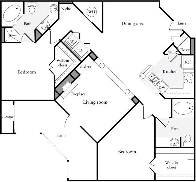 1 Bedroom, Perimeter Center Rental in Atlanta, GA for $1,225 - Photo 1