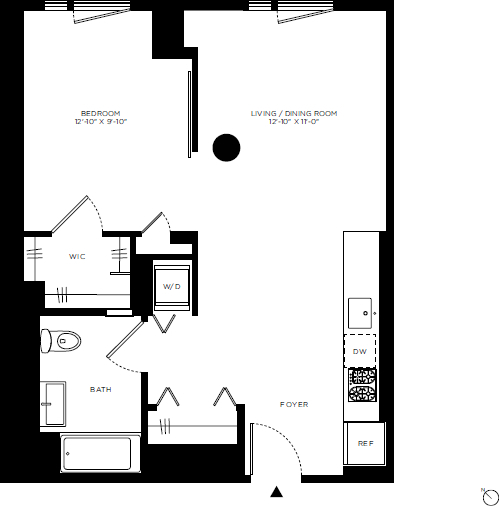 1 Bedroom, Hell's Kitchen Rental in NYC for $3,529 - Photo 2