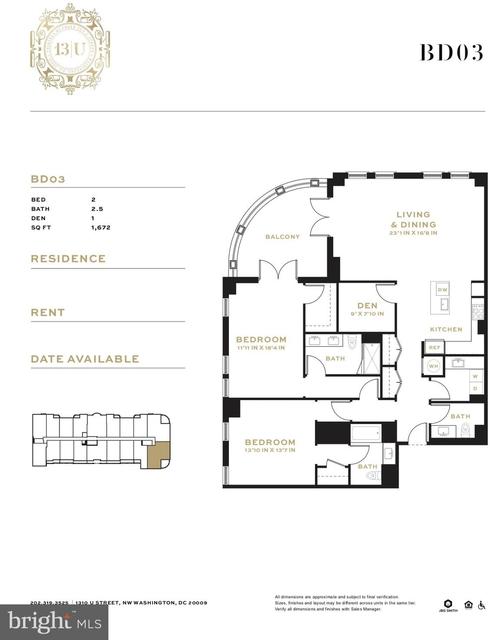 2 Bedrooms, U Street - Cardozo Rental in Washington, DC for $8,499 - Photo 2