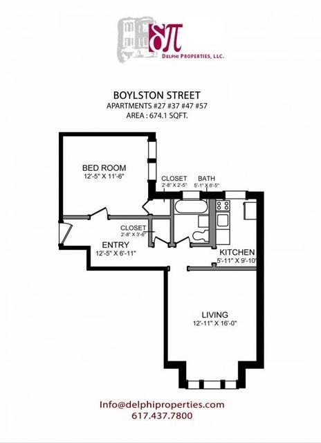 1 Bedroom, West Fens Rental in Boston, MA for $2,250 - Photo 1