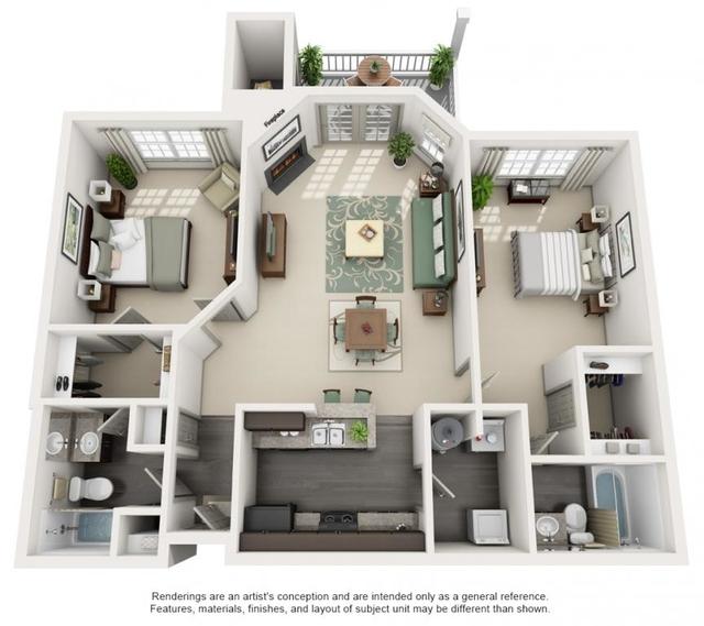 2 Bedrooms, Wembley Hall Rental in Atlanta, GA for $1,445 - Photo 1