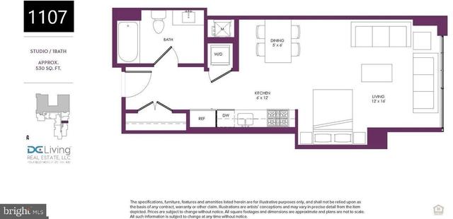 Studio, Southwest - Waterfront Rental in Washington, DC for $2,600 - Photo 2