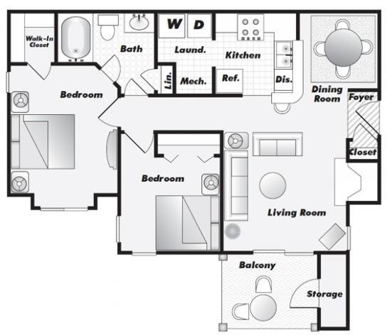 1 Bedroom, Gwinnett County Rental in Atlanta, GA for $746 - Photo 1