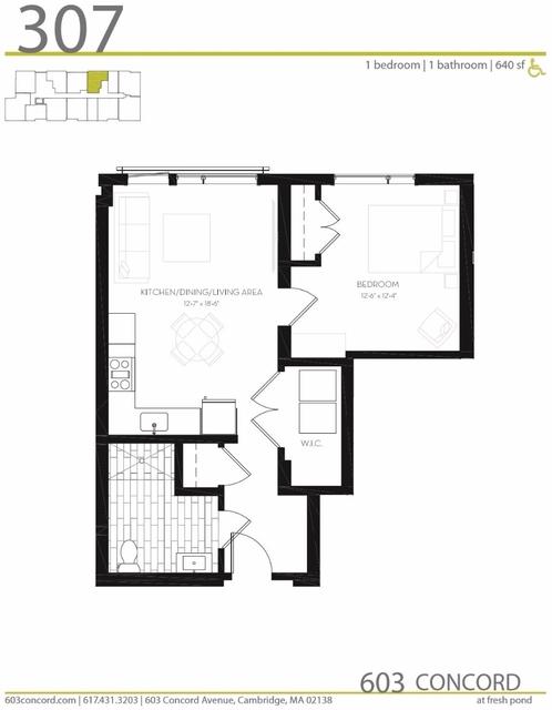 1 Bedroom, Cambridge Highlands Rental in Boston, MA for $2,550 - Photo 2
