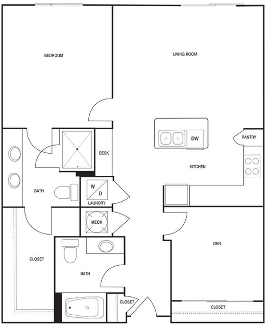 2 Bedrooms, Central Houston Rental in Houston for $1,840 - Photo 2