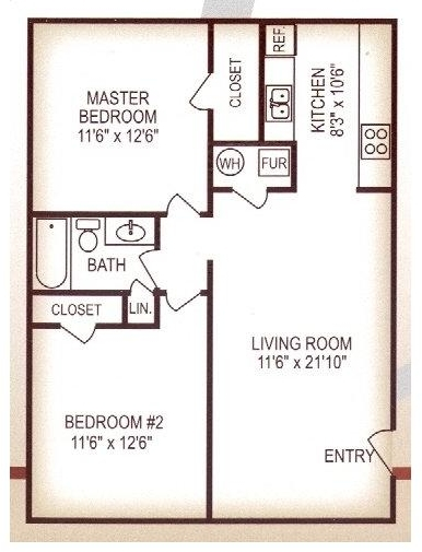 2 Bedrooms, Cambridge Pointe Rental in Kansas City, MO-KS for $769 - Photo 1