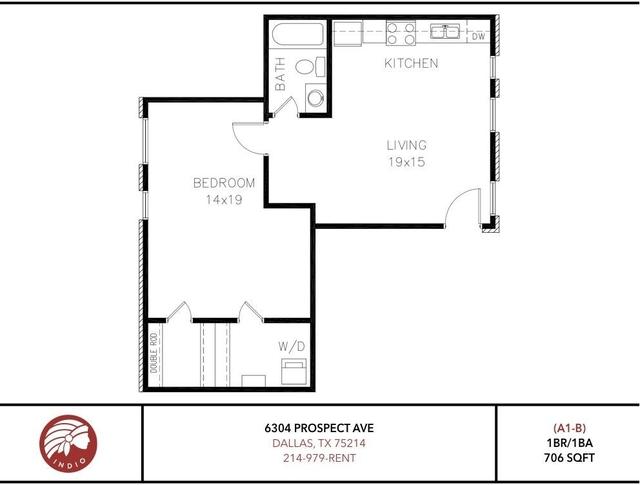 1 Bedroom, Central Dallas Rental in Dallas for $1,298 - Photo 1