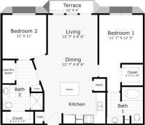 1 Bedroom, Monticello Rental in Dallas for $1,027 - Photo 2
