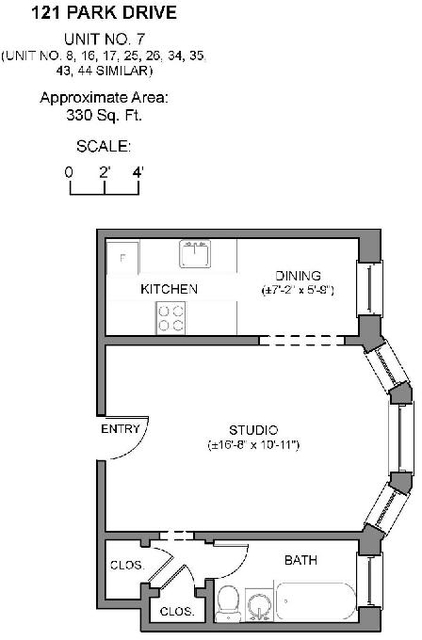 Studio, West Fens Rental in Boston, MA for $1,875 - Photo 1