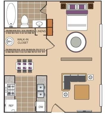 1 Bedroom, Arlington Rental in Dallas for $720 - Photo 1