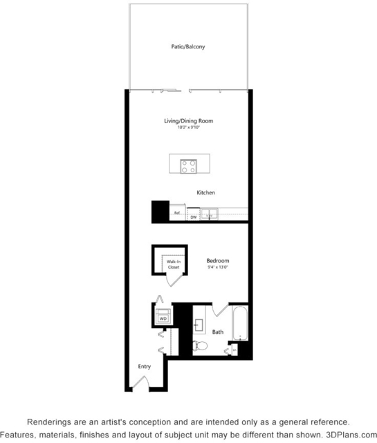 Studio, The Loop Rental in Chicago, IL for $2,695 - Photo 2