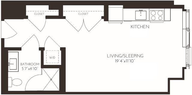 Studio, Seaport District Rental in Boston, MA for $3,430 - Photo 2