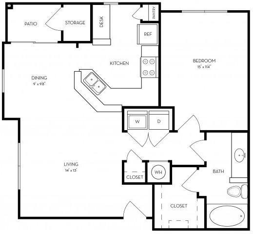 1 Bedroom, Southwest Atlanta Rental in Atlanta, GA for $922 - Photo 1