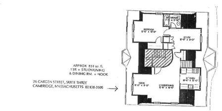1 Bedroom, West Cambridge Rental in Boston, MA for $2,900 - Photo 1