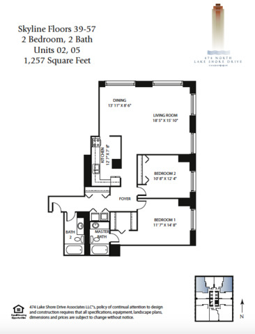 2 Bedrooms, Streeterville Rental in Chicago, IL for $3,000 - Photo 2